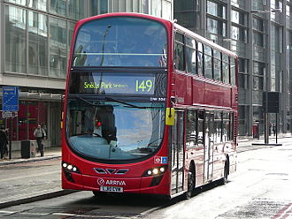 London Buses route 149 - Arriva London Wright Gemini 2 bodied VDL DB300