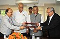 Ashok Gajapathi Raju Pusapati and the Minister of State for Development of North Eastern Region (Independent Charge), External Affairs and Overseas Indian Affairs.jpg