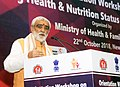 Ashwini Kumar Choubey addressing at the inauguration of the 'Orientation Workshop on Health and Nutrition Initiatives under Aspirational District Programme', in New Delhi.JPG
