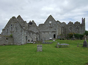 Second Desmond Rebellion - The Askeaton friary was burned during Malby's attack