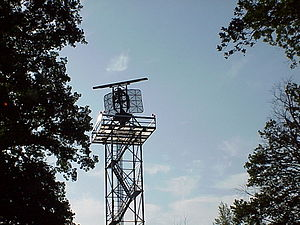 Airport surveillance radar - ASR 910, a German derivate of AN/TPN-24, Radartower in Neubrandenburg (Western-Pomerania/ Germany)