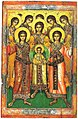 Assembly of the Bodiless Powers Icon from Sinitsa 65 X 42.8 X 3.3 Beginning of the 17th Century.jpg