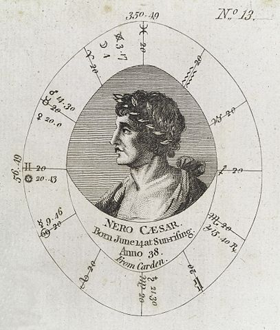 Astrology Birth Chart: Astrological birth chart for Emperor Nero Wellcome L0040328 ,Chart