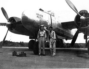 Deke Slayton - Deke Slayton (right) beside a Douglas A-26 bomber