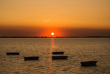 Sunset in Chascomus Lagoon