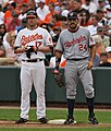 Aubrey Huff and Nick Johnson on June 28, 2009.jpg