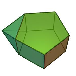Augmented pentagonal prism - Image: Augmented pentagonal prism