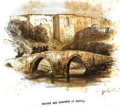 August von Haxthausen. Transcaucasia. Bridge and fortress at Erivan.jpg