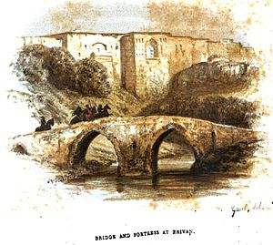 Red Bridge, Yerevan - Image: August von Haxthausen. Transcaucasia. Bridge and fortress at Erivan