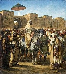 Ежен Делакроа: Muley-Abd-Err-Rahmann, sultan du Maroc sortant de son palais de Mequinez