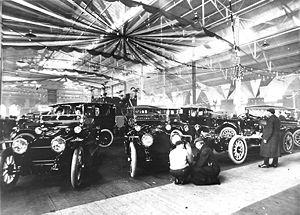 Auto show - An auto show in Toronto, Ontario, Canada in 1912