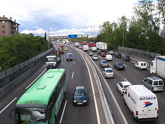 Transport in Madrid - Autovía A4, Spain