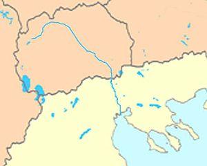 Vardar - Image: Axios Vardar river map