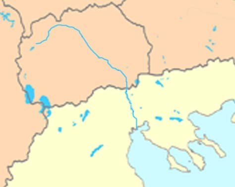 Axios-Vardar river map