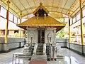 Ayyappan Dharma Shastha shrine at Annapurna Hindu temple Mudbidri Karnataka India.jpg