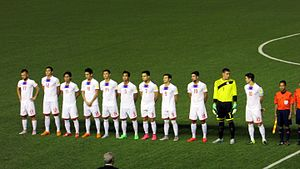 Philippines national football team - Starting eleven of the national team against the Maldives in an international friendly match, September 3, 2015