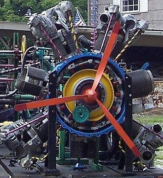 Gunderson Do-All Machine - Image: B 25 Bomber Cyclone Engine