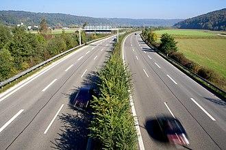 Bundesstraße 27 - Image: B27 Tübingen