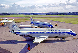Bavaria Fluggesellschaft - BAC 1-11s of Bavaria at Liverpool Airport in 1969