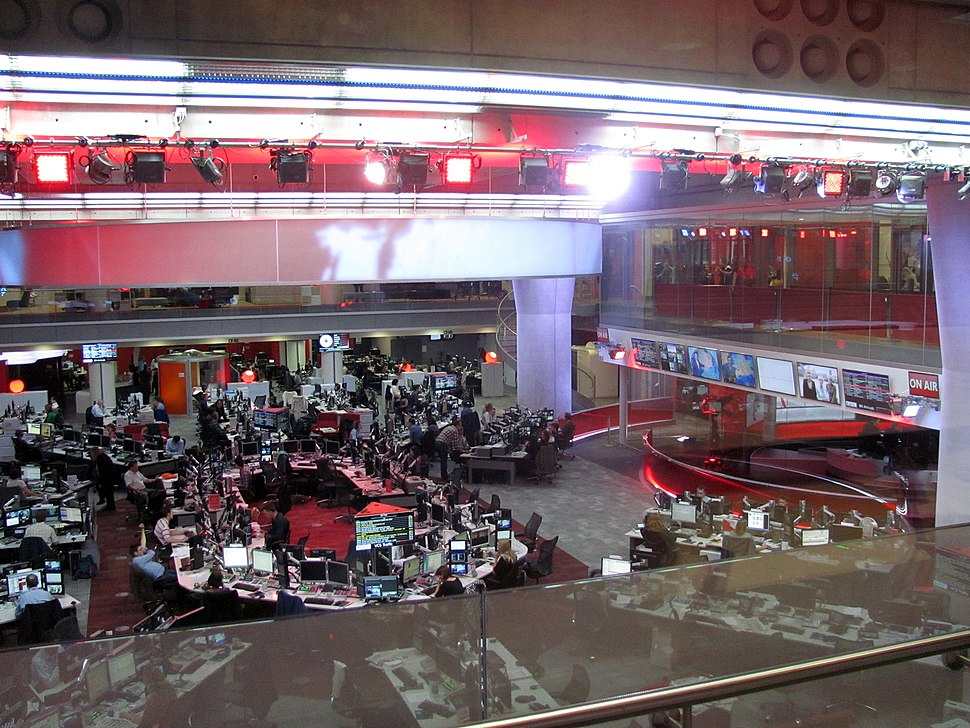 BBC Broadcasting House newsroom and studio 2013