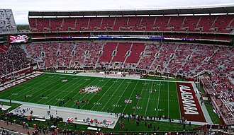 Bryant–Denny Stadium - Looking west in 2010