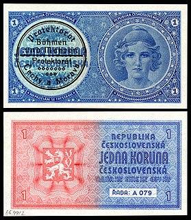 Bohemian and Moravian koruna currency