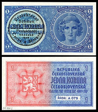 Protectorate of Bohemia and Moravia banknote