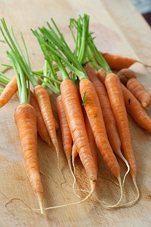 English: Baby carrots.