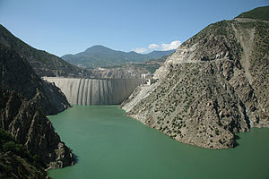 Back Side of Deriner Dam, Province of Artvin, Turkey.jpg