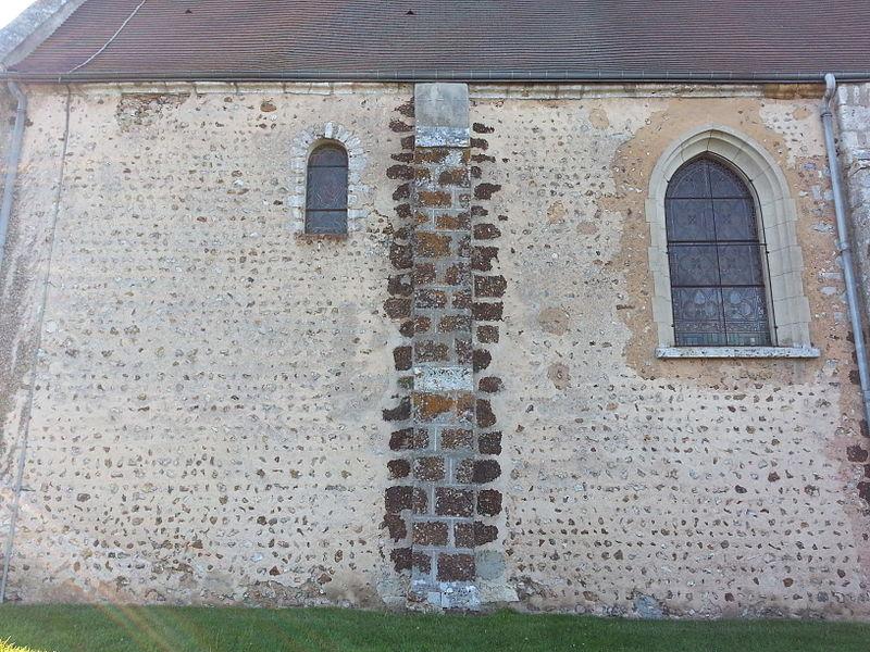 Bailleau-l'Évêque - Eglise Saint-Étienne (mur Sud d'origine romane)