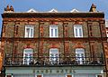 Balcony and brick fascia of Sands Hotel Margate Kent England.jpg