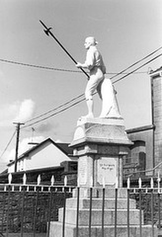 Irish Republic (1798) - Memorial of rebel pikeman, erected in Ballinamuck in 1928