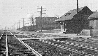 Woodlyn, Pennsylvania - Baltimore and Ohio Railroad station in Woodlyn, 1912