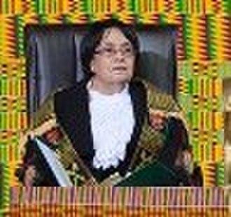 Parliament of Ghana - Rt. Hon. '''Joyce''' Adeline '''Bamford-Addo'''