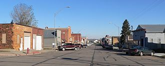 Bancroft, Nebraska - Main Street in Bancroft