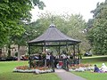 Bandstand (complete with Band^) - Pudsey Park - geograph.org.uk - 1455230.jpg