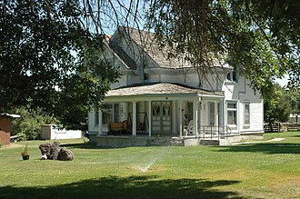 National Register of Historic Places listings in Cache County, Utah - Image: Barrett House Mendon Utah