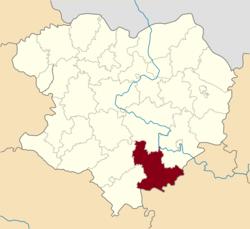 Vị trí của huyện Barvinkove trong tỉnh Kharkiv