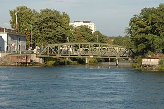 Wiese - The Wiese empties into the Rhine between the two Basle quarters of Kleinhüningen and Klybeck.