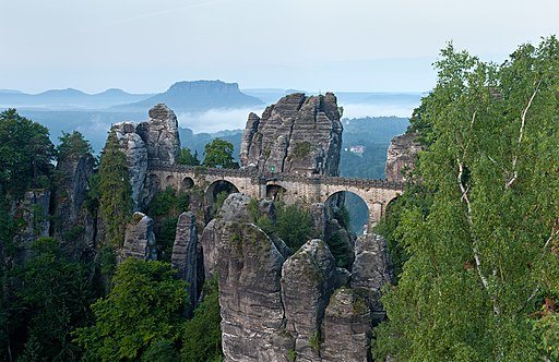 Basteibrücke morgens