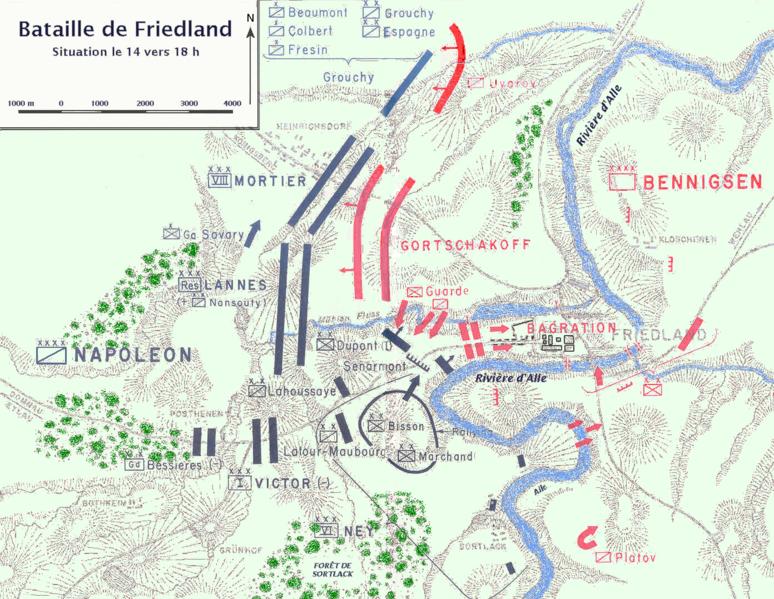 Archivo:Bataille de Friedland Map.png
