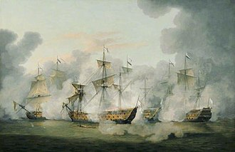 Battle of Martinique (1780) - View of the battle by Thomas Luny.