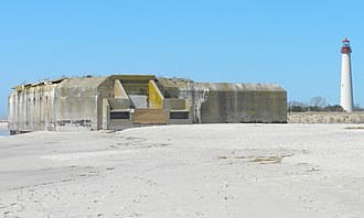 National Register of Historic Places listings in Cape May County, New Jersey - Image: Battery 223 Cape May Point