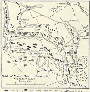 Battle of Mars-la-Tour - An 1895 map of the battle
