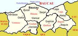 Location in Baucau Municipality