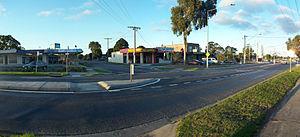 Baxter, Victoria - Main street of Baxter