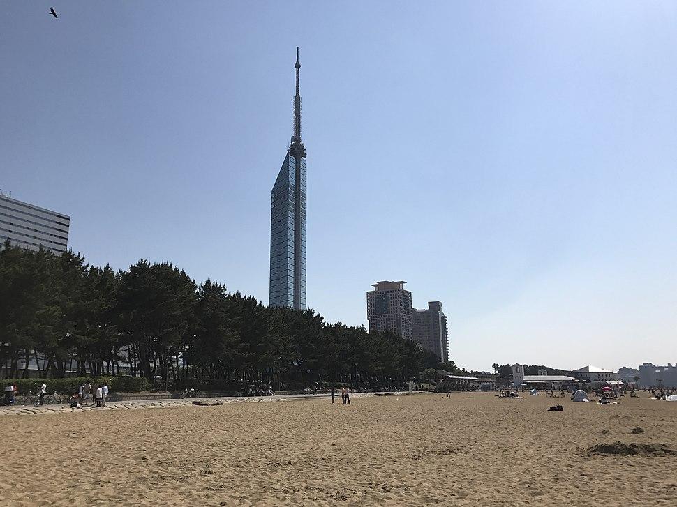Beach of Seaside Momochi Seaside Park 3