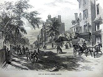 Beacon Street - Image: Beacon Street Boston 1850s