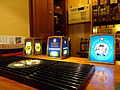 Beer taps, public bar, Railway Inn, Spofforth, North Yorkshire (2nd December 2013) 002.JPG