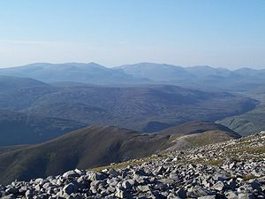 Grampian Mountains - The Cairngorms from Beinn a' Ghlò.